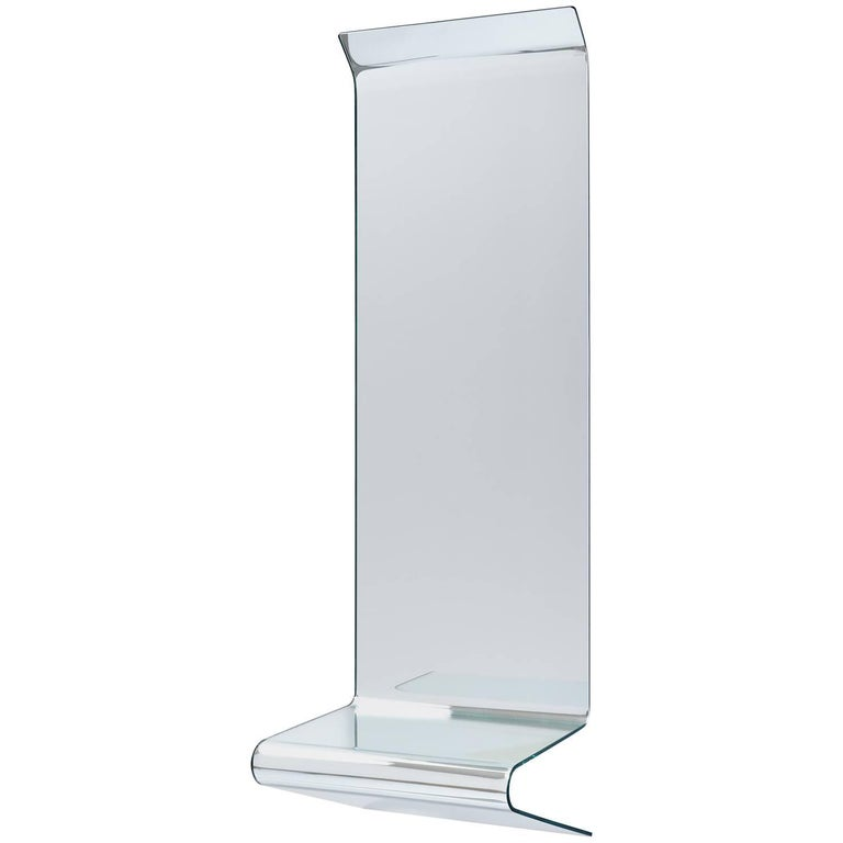 Floating Mirrored Console by Fiam Italia For Sale