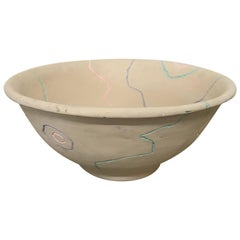 Postmodern Pottery Centrepiece Bowl or Fruit Bowl