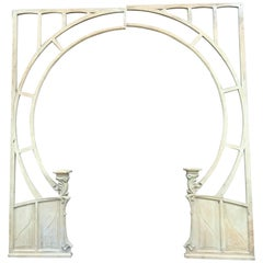 Winter Garden Doorway, Wood Arch with Stand, Art Nouveau Period