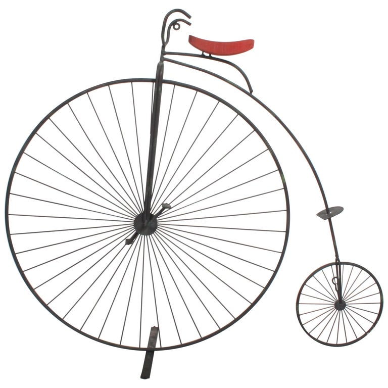 "Curtis Jere bicycle ""Highwheeler"" Table or Wall Sculpture"