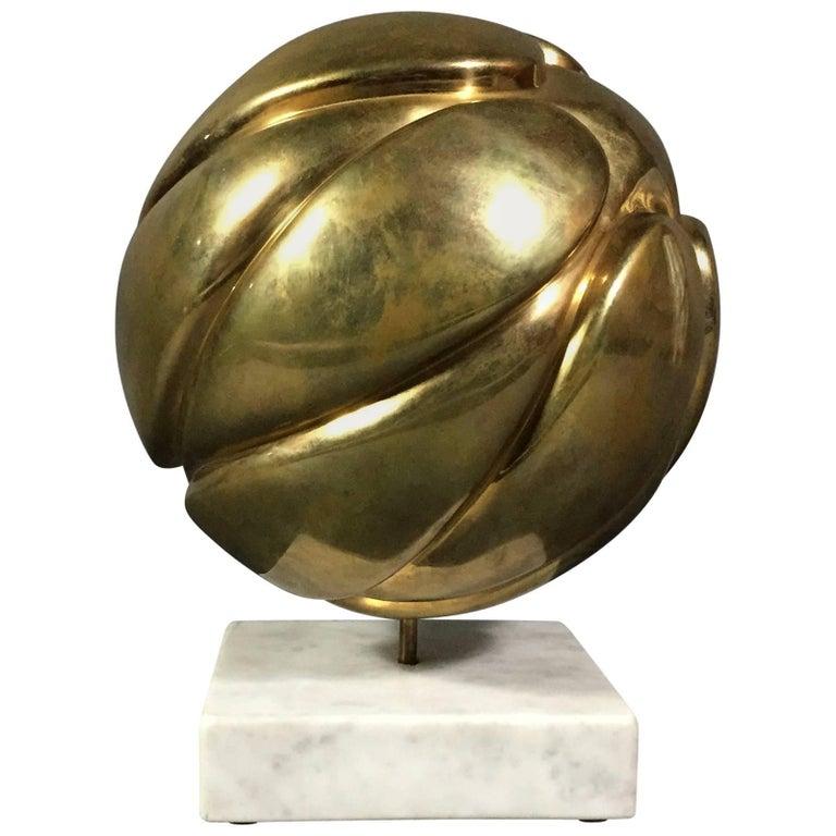 Robert Zeidman Spherical Brass Sculpture, USA, circa 1980