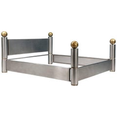Machine Age Steel and Brass CA King Bed