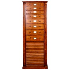 Early English Oak Filing Cabinet or Chest of Drawers, circa 1910