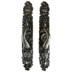 Gates Mansion Cast Bronze Serpent Pulls Reproduction