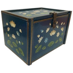Hand-Painted Chinoiserie Jewelry Box