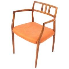 Niels Otto Møller, Graceful Danish Modern Teak Side Chair, Denmark 1960s