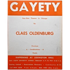 "Claes Oldenburg ""Gayety"" Happening Rare Original Poster"