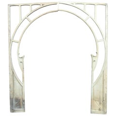 Winter Garden Doorway, Wood Arch, Art Nouveau Period