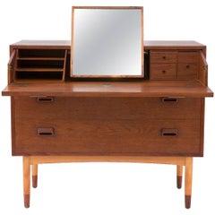 Børge Mogensen Teak and Beech Vanity Dresser