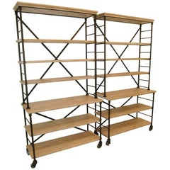 Hickory Chair Furniture Prado Industrial Bookcase Etagere by Suzanne Kasler