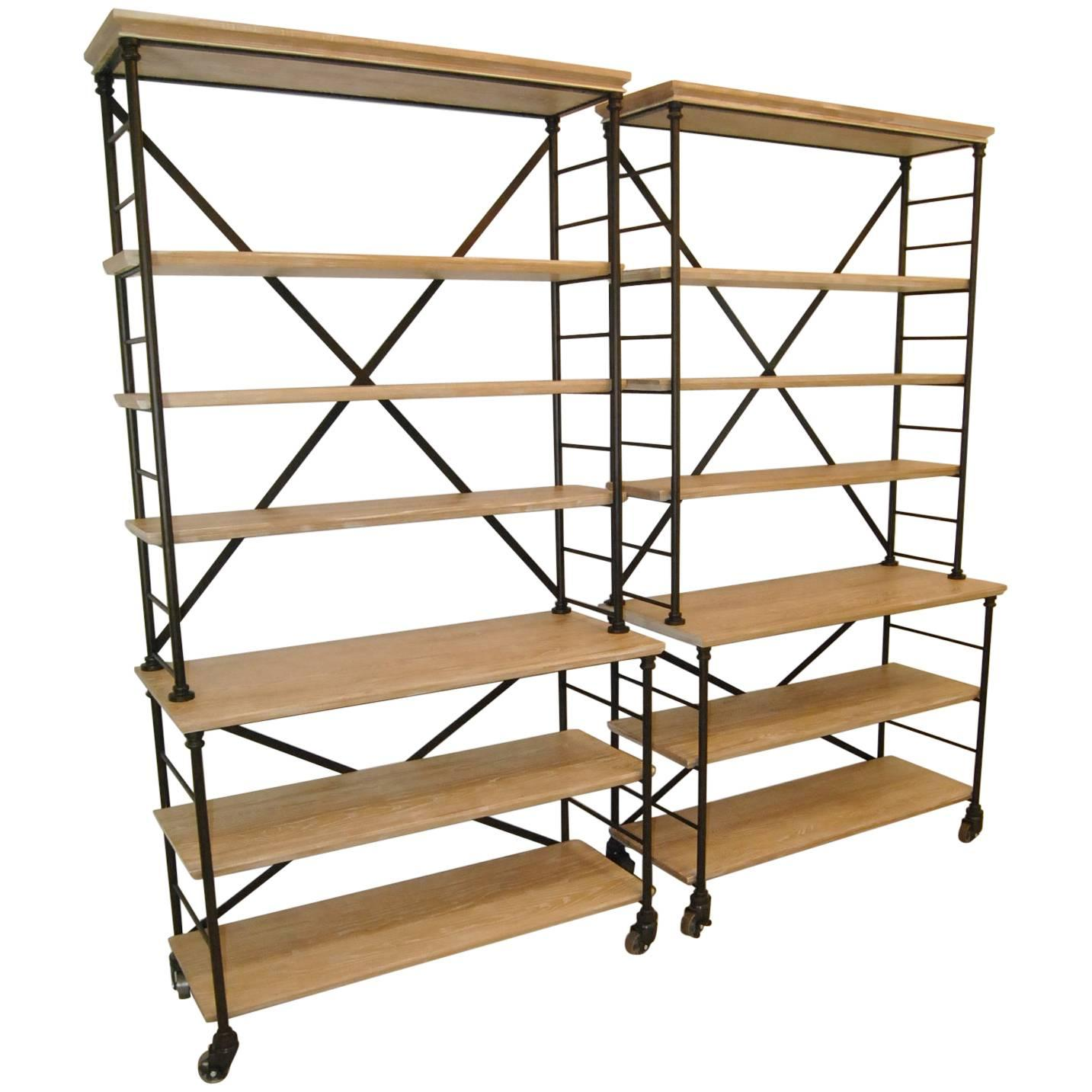 Hickory Chair Furniture Prado Industrial Bookcase Etagere By Suzanne Kasler  For Sale