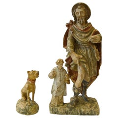 Polychromatic Statue of Saint Roch, 17th Century