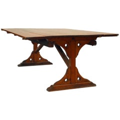 "American Country Style 'Mid-19th Century' Pine Dining ""Harvest"" Table"