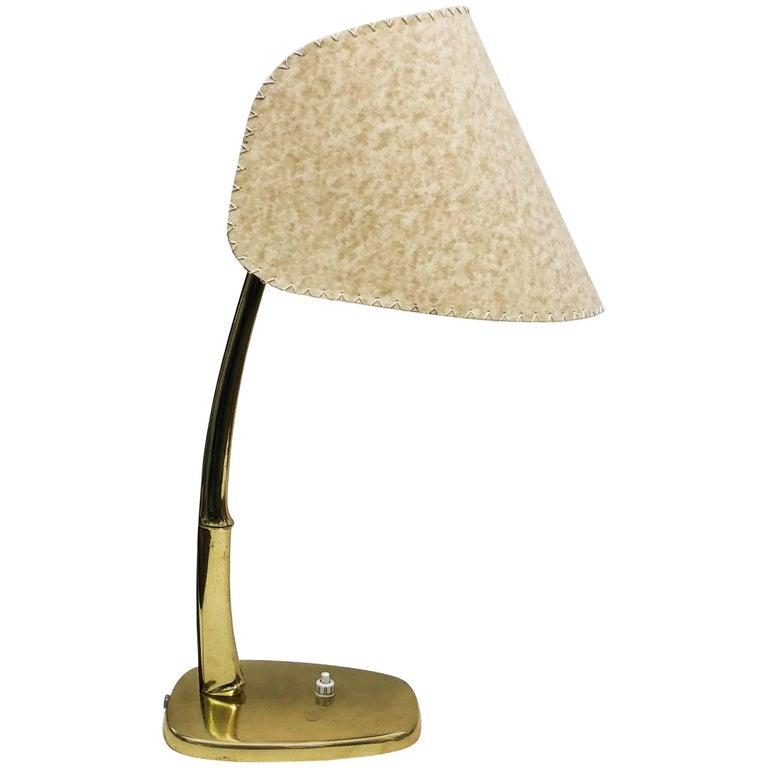 "Midcentury ""Arnold"" Brass Table Lamp by J.T. Kalmar"