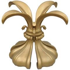Hollywood Regency Lily Flower Fleur-de-Lis Gold Center Table Base