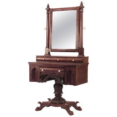 American Empire Gothic Design Dressing Table