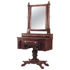 American Empire Gothic Design Mahogany Dressing Table
