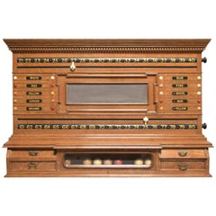 Billiard, Snooker Pool Table Scoring Cabinet