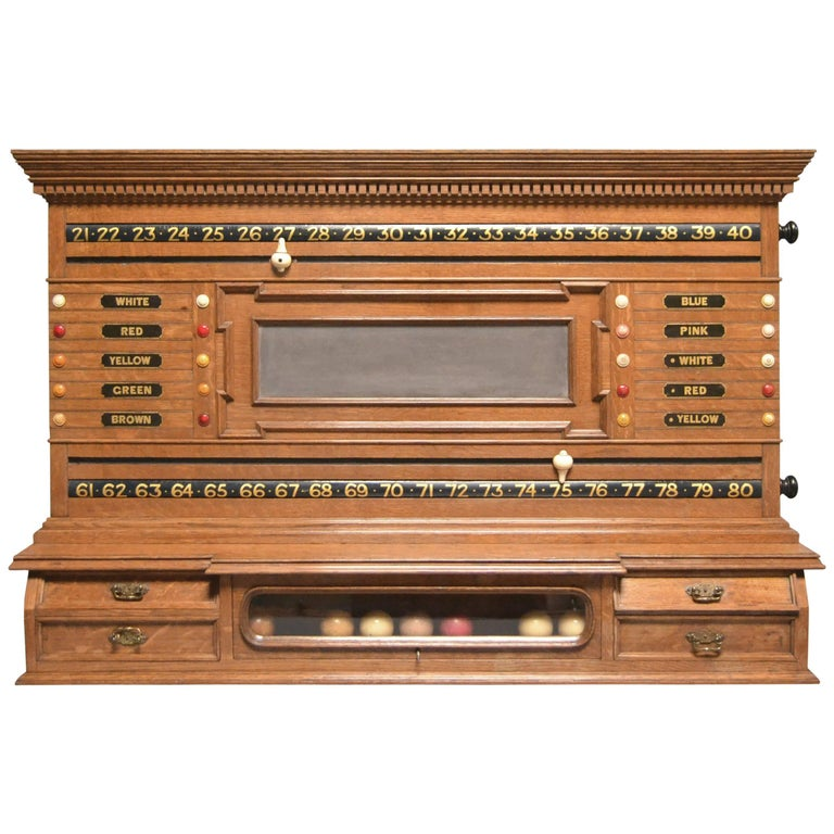 Billiard Snooker Pool Table Scoring Cabinet For Sale At Stdibs - Pool table cabinet