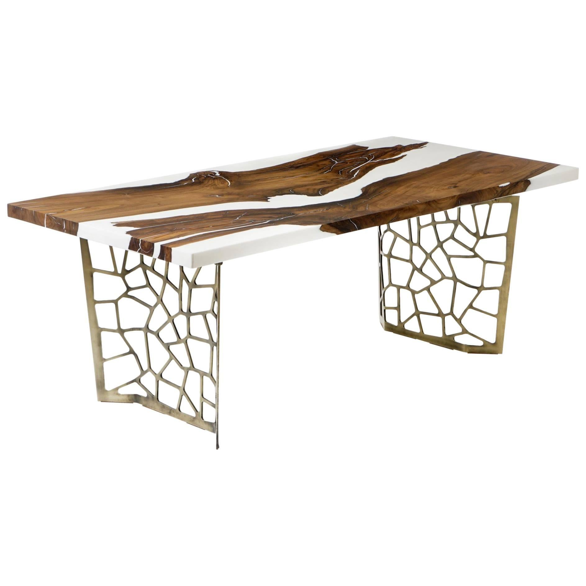 Hudson White 200 Epoxy Resin Dining Table For Sale at 1stdibs