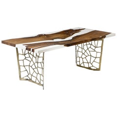 Hudson White 200 Epoxy Resin Dining Table