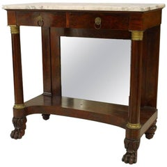 American Empire Mahogany Console Table