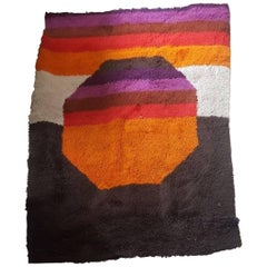 Colored Wool Carpet, 1970 circa, Italia
