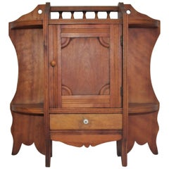 Hanging Medicine Cabinet with One Drawer, 19th Century Pine