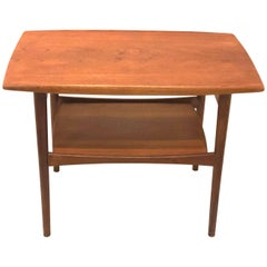 Danish Modern Teak End Table with Raised Edge by Moreddi, Denmark