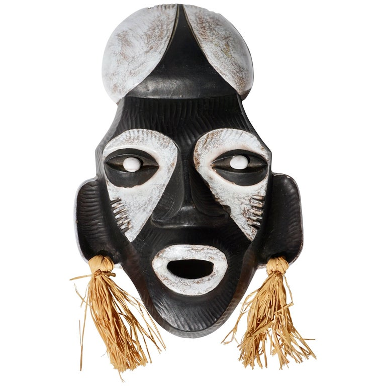 Ceramic African Mask by Anzengruber