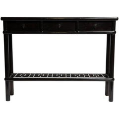 Chinese Console Table with Three Drawers