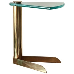 DIA Brass Table with Glass Top