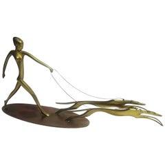 Art Deco Bronze Diana the Huntress Sculpture by Hagenauer