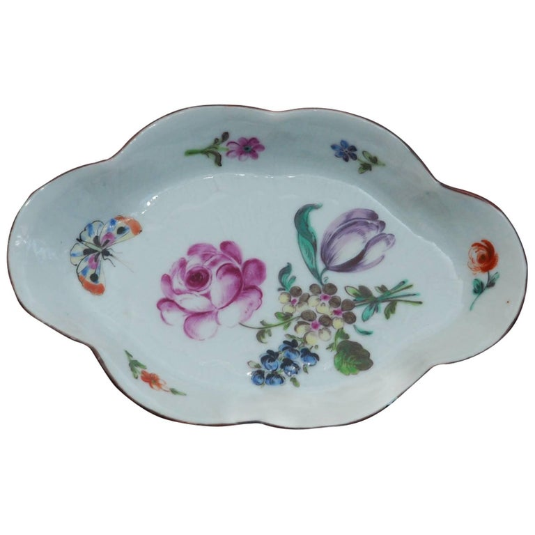 Spoon Tray Decorated in London by James Giles, China, circa 1760