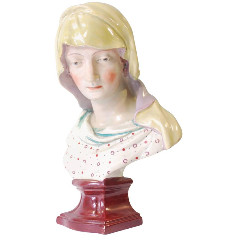 Large Bust of the Pieta, Ralph Wood Jr, circa 1790 For Sale