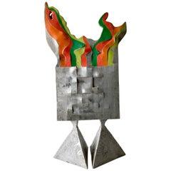 Robert A. Dhaemers Trippy Aluminum California Studio Sculpture