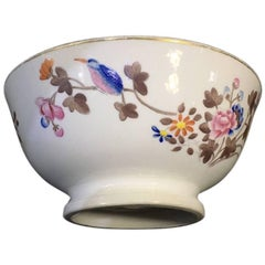 Swansea Porcelain Bowl, Kingfisher Pattern, circa 1820