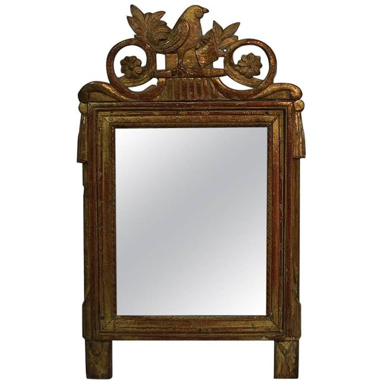 Small 19th Century French Giltwood Louis XVI Style Mirror