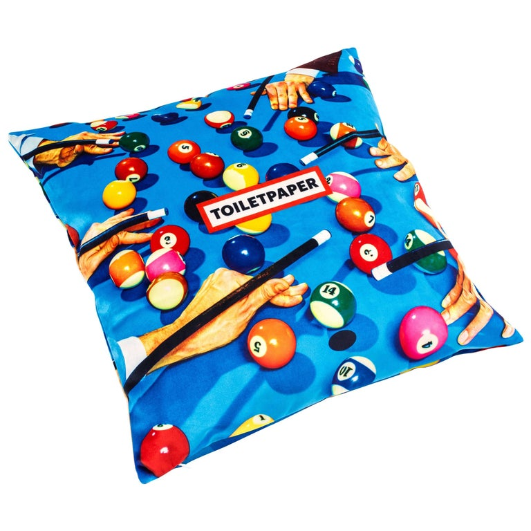 Seletti Polyester Cushion by 'Toiletpaper', Snooker For Sale