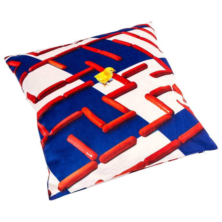 """Seletti Polyester Cushion by """"Toiletpaper"""", Labyrinth For Sale"""