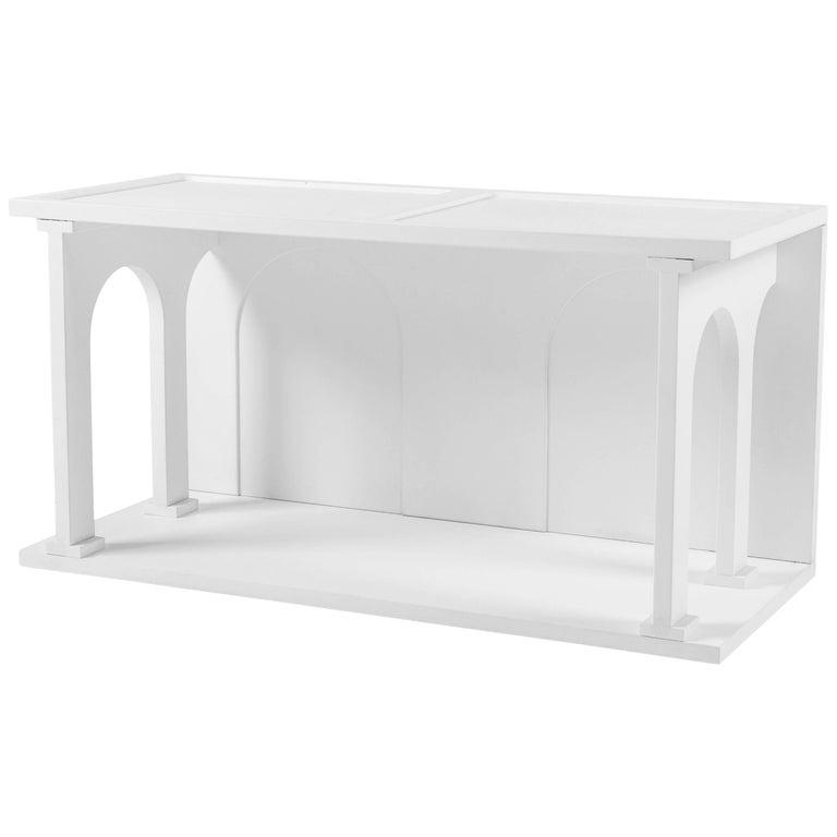 "Seletti Library Modular Wooden ""Renaissance-Arc"", White For Sale"