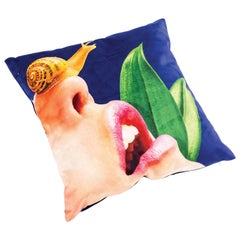 "Seletti Polyester Cushion by ""Toiletpaper"", Snail"