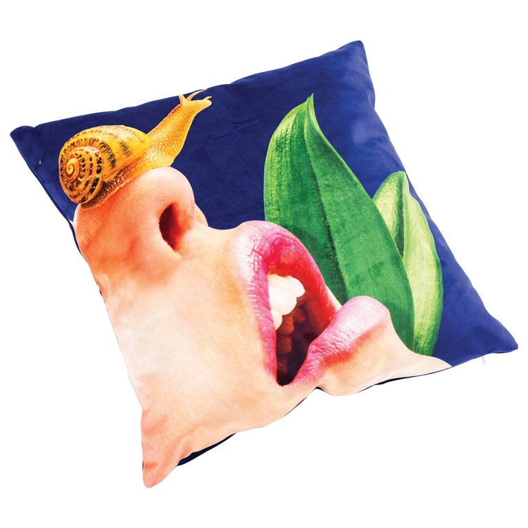 """Seletti Polyester Cushion by """"Toiletpaper"""", Snail For Sale"""