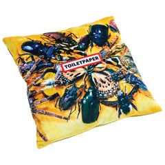 "Seletti Polyester Cushion by ""Toiletpaper"", Insects"
