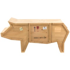 "Seletti ""Sending Animals"" Wooden Credenza, Pig"
