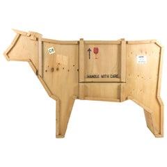 "Seletti ""Sending Animals"" Wooden Credenza, Cow"