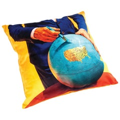 "Seletti Polyester Cushion by ""Toiletpaper"", Globe"