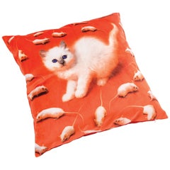 Seletti Polyester Cushion by 'Toiletpaper', Kitten