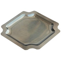 1970 Hand-Embossed Brass Tray