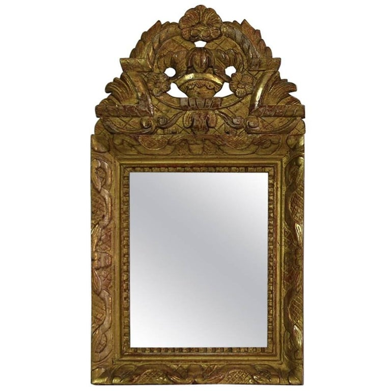 Small French, Louis XV Baroque Style Giltwood Mirror